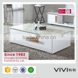 white MDF living room furniture modern marble coffee table fish tank for sale