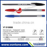 stick ball point pen transparent