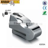 motorcycle alarm brake disc lock