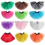 wholesale Cheap baby girls party tulle tutu Dance tutu skirt solid colors Girls summer short skirt SK-5