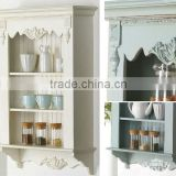 Shabby chic wooden wall storage shelf with two layers for living room                                                                         Quality Choice