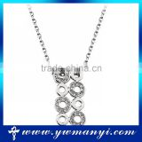 Latest desing silver pendant necklace jewelry fashion crystal necklace                                                                                                         Supplier's Choice