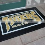 Custom Door Mat, latex backing washable rug logo mat                                                                         Quality Choice