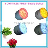 Purple Blue Red Yellow LED Color Photon Beauty Device with Replaceable Head