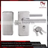 High Hardness Tempered Glass Double Sided Door Handle Lock