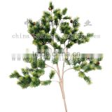 artificial leaves, artificial pine tree spray,artifical foliage, artificial fire retardant pine spray,artificial pine branch