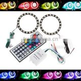 Car LED Angel Eyes 40mm 80mm 120mm 160mm RGB Halo Ring with Control                                                                         Quality Choice