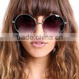 wholesale quality aviator metal brand promotion sunglasses