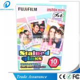 Fujifilm Instax Mini Film Stained Glass for Fuji Instant Polaroid Cameras Photo Picures
