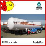3 axle 58m3 lpg tanker semi trailer low price sale in tanzania