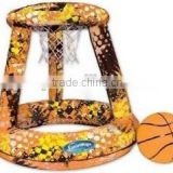 giant kid inflatable plastic basketball shooting hoop