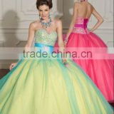 2012 New Arrival Popular Designer Sweetheart Beaded Orange Quinceanera Dress Prom Dress MLQ-283
