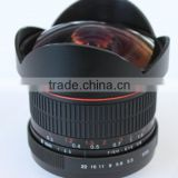 Factory price,New 6.5mm F/3.5 F3.5 Fisheye camera LENS FOR 60d 650d 700d 600d 550d 500d 1000d DSLR Camera Use