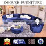 antique classic blue velvet chesterfield sofa art deco livingroom furniture AL043