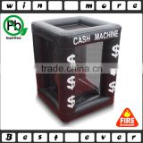 inflatable grabbing money cash machine cube booth                                                                         Quality Choice