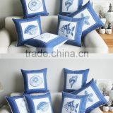 fantastic stylish plain desigen mediterranean sea animal navy blue dec office lumbar cushion pillow case