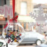 Round Plastic Capsules 10cm Transparent Decoration Promotional Christmas Gifts/Xmas Balls