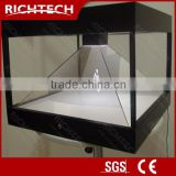 Richtech portable 3D pyramid-shaped advertising hologram machine showcase