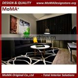 (MA123H) Black Fabric Living Room Sofa/Modern Hotel Furniture/Furniture Set