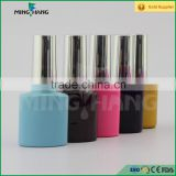 8ml New custom UV coat empty gel nail polish glass bottle with gold lid brush made in china factory