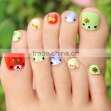 Beauty Sticker Hot selling Bling 3D Toe Sticker Nail Art Wraps Decal Tips Decoration Pedicure Rhinestone