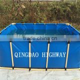 INQUIRY ABOUT PVC tarpaulin circle or rectangular large plastic water containers or tank