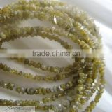 Yellow Color Rough Diamond Bead Necklace At Low Price