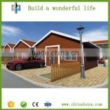 Prefab light steel frame container module wood garden house