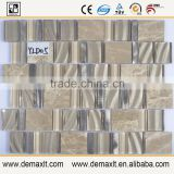modern house design glazed crystal glass mix marble mosaic tile for Coffee Shop Decorative