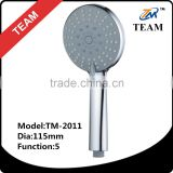 TM-2011 bathroom fittings new 5 functions ABS plastic bath hand shower high pressure shower head