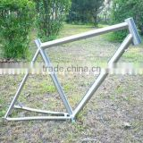 Titanium Bike Frame 700c Road Tapered Headtube/Disc Brake/Rack and Mudguard Bosses/Engraved Logo