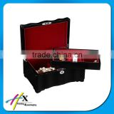 jewelry wood box with push button