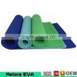 Eco friendly Melors washable Ladies Exercise Fitness Workout Non Slip Soft Resilient Natural Rubber TPE Yoga Mat