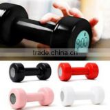 Good design dumbbell alarm clock shape lift up 30 times work out morning