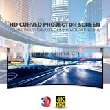 Stainless steel frame projector screen /outdoor fixed frame projection screen with matt white fabric