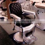 Topgrade hair salon chair with artificial cast iron beauty salon furniture
