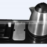 hotel kettle tray set/electric kettle with tray set/new design electric kettle for hotel/home use