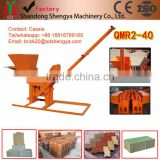 Hot sale shengya QMR2-40 manual interlocking brick machines small scale industries in india images China product