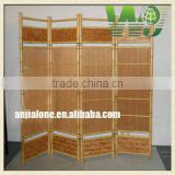2016 WY-163 Decorative flexiable indoor folding bamboo divider screen for living room