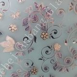 China glass factory supply best price decorative art glass, ice acid etched frosted glass