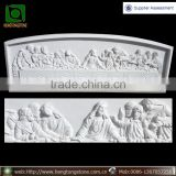 White Marble Christianity Jesus Jesu And Disciple Last Supper Statue