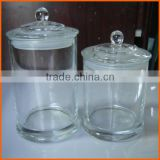 Wholesale clear round candle glass jar dome lid