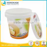 400g Waterproof Food Packaging Plastic Container for Butter Cup,Bucket with Lid for Cheese Package