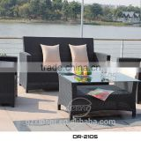 wholesale outdoor furniture China classic black rattan sofa set with waterproof cushions