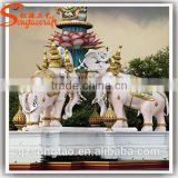 Great Quality of Outdoor Decoration Equioment Life Size Large Fiberglass Animal Statue Molds