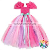 Hot Selling Children Party Tutu Skirt Baby Girl Flower Design Tutu Dresses For Girls