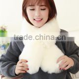 Autumn and winter rex rabbit hair fur collar son of thick plush scarf female faux small muffler scarf