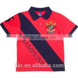 Boy's CVC Jersey Polo T-Shirt
