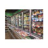 2M Frozen Food Combination Freezer Wall Case With Horizontal Mitsubishi Compressor