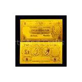 Old AUD 1 Banknote Gold Foil Banknote for collection , gold foreign money